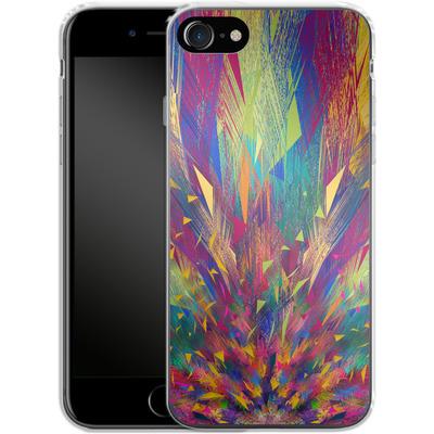 Apple iPhone 8 Silikon Handyhuelle - Triangles Explosion von Danny Ivan