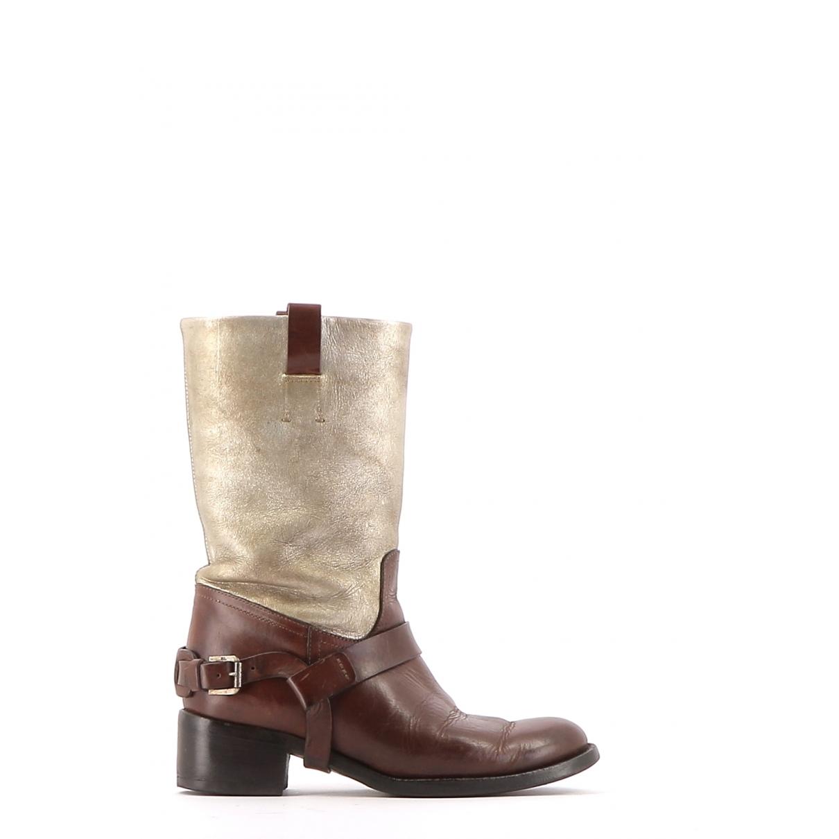 Ralph Lauren \N Multicolour Leather Boots for Women 36.5 EU