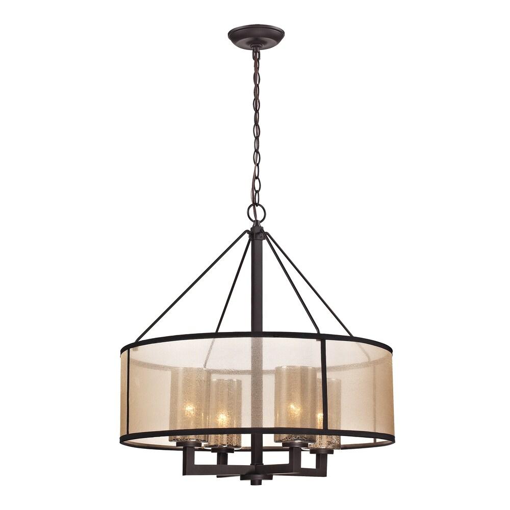 Elk Lighting 'Diffusion' 4-light Oil-rubbed Bronze Chandelier (Diffusion 4 light chandelier)