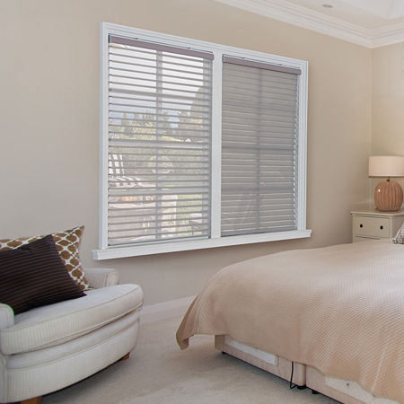 JCPenney Home Horizontal Light-Filtering Cordless Sheer Shades, One Size , Gray