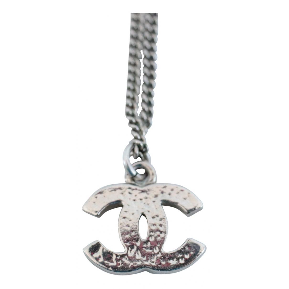 Chanel \N Kette in  Silber Silber