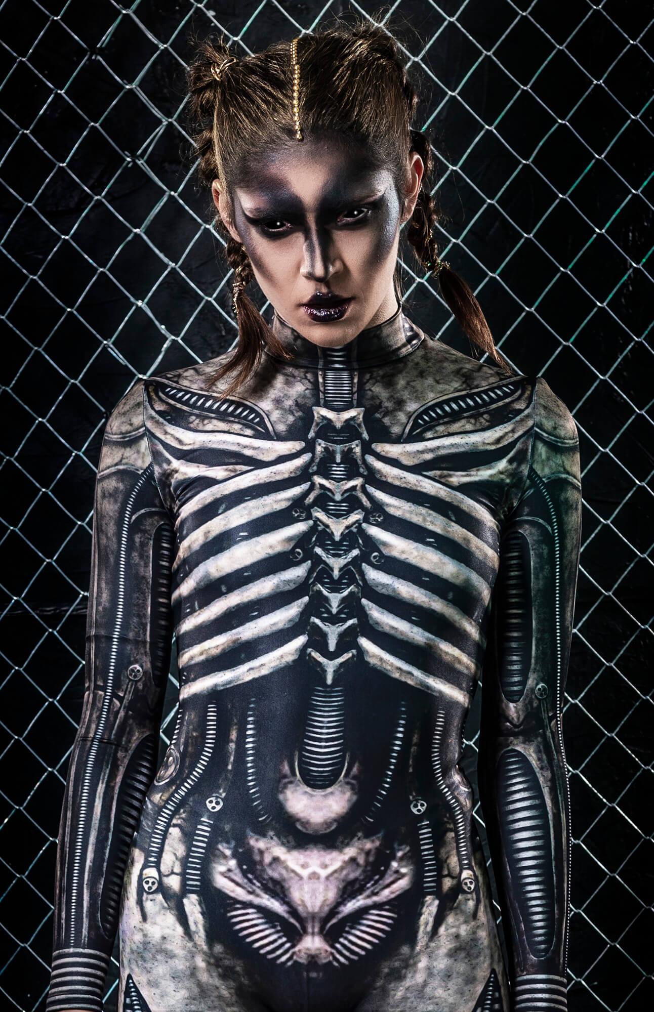 Xenomorph Costume - Rave Clothing Women - Sexy Festival Bodysuit