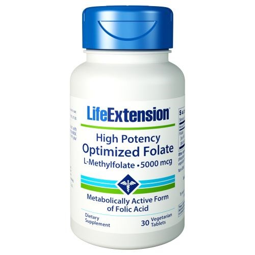 High Potency Optimized Folate 30 Tabs by Life Extension