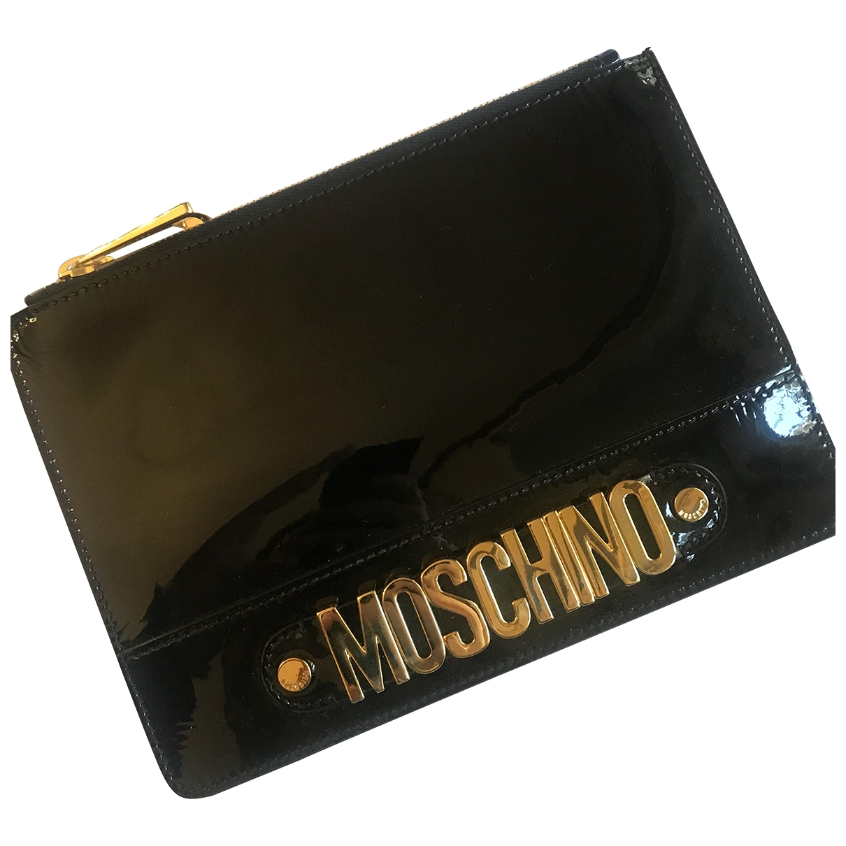 Moschino \N Black Patent leather Clutch bag for Women \N