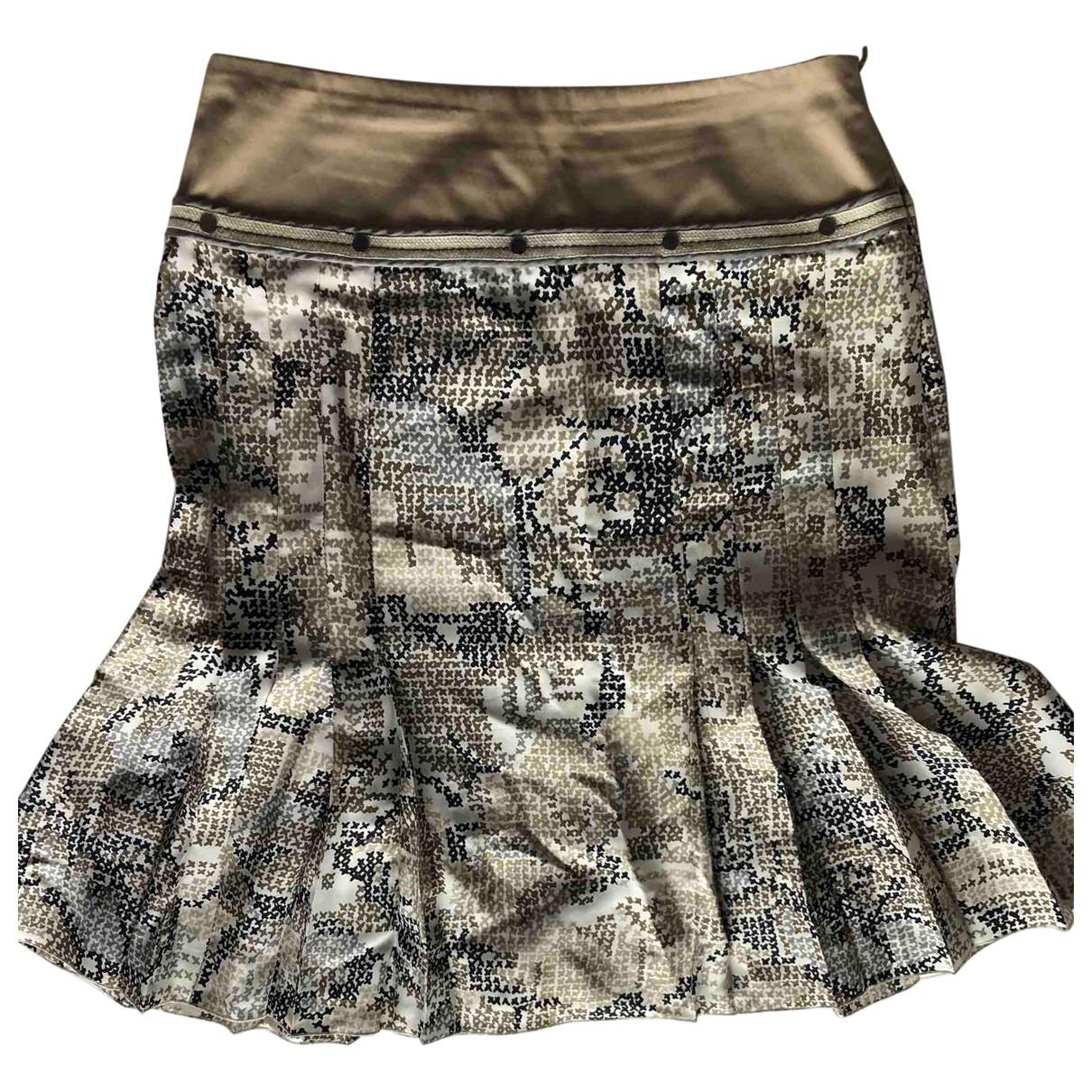 Paule Ka \N Beige Silk skirt for Women 36 FR