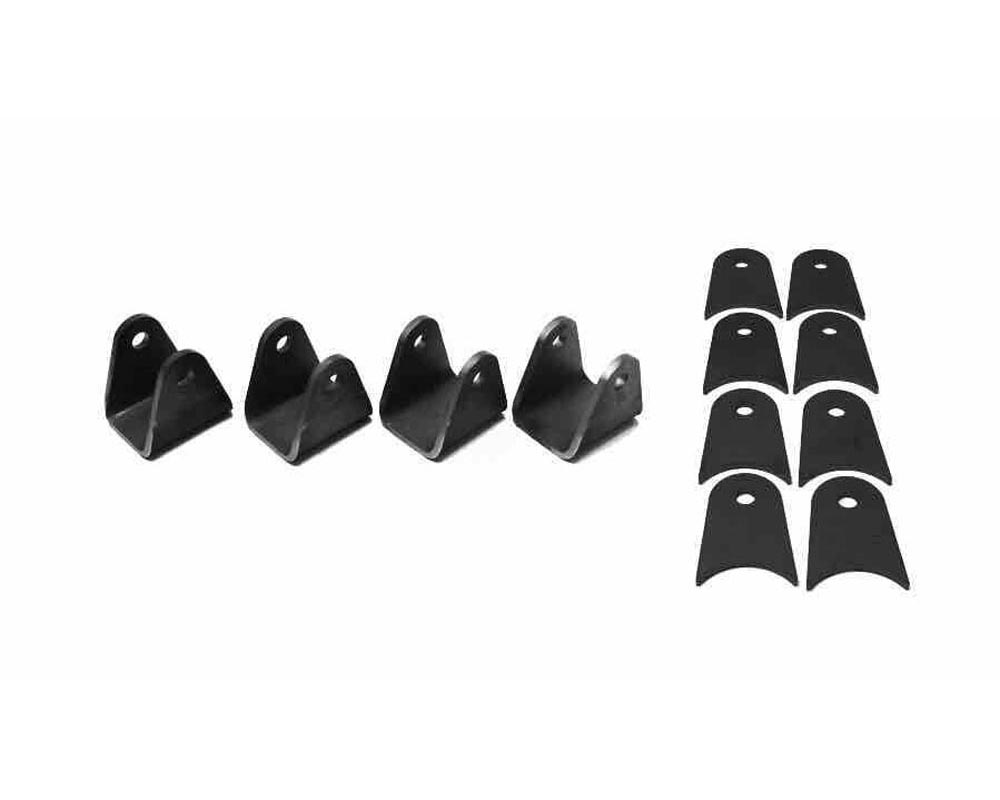 Steinjager J0007706 Tabs and Clevises, Weld On 4 Link Tab and Clevis Kits 0.500 Bore 4.00 Axle Diameter 3.00 Inch Clevis Jaw 3.00 Axle Tab Length 4 Cl