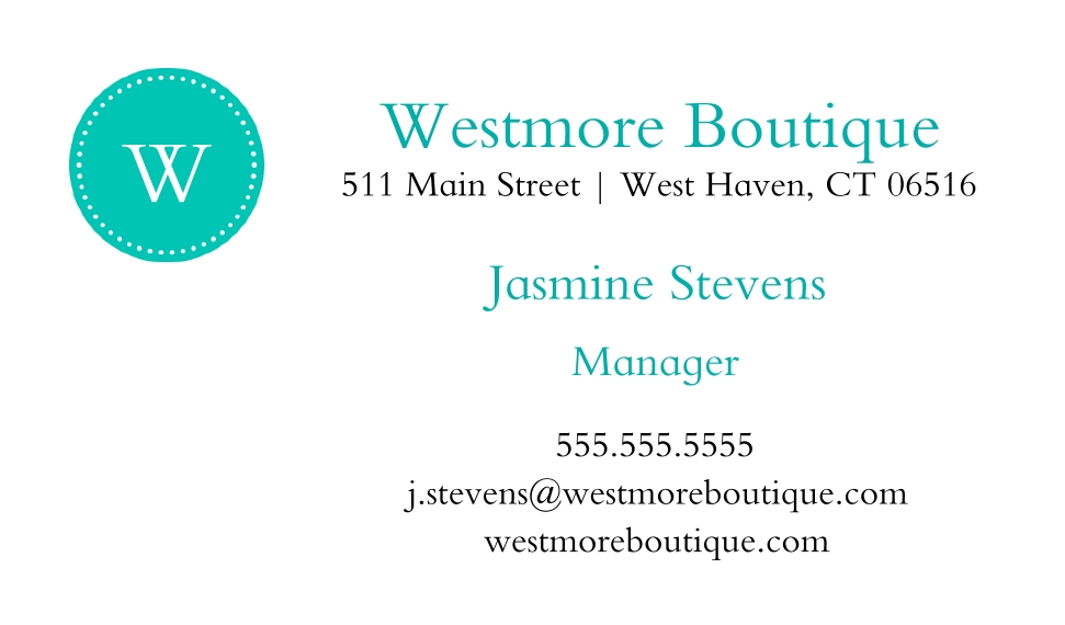Retail & Food Business Cards, Set of 40, Silk, Card & Stationery -Store Awning