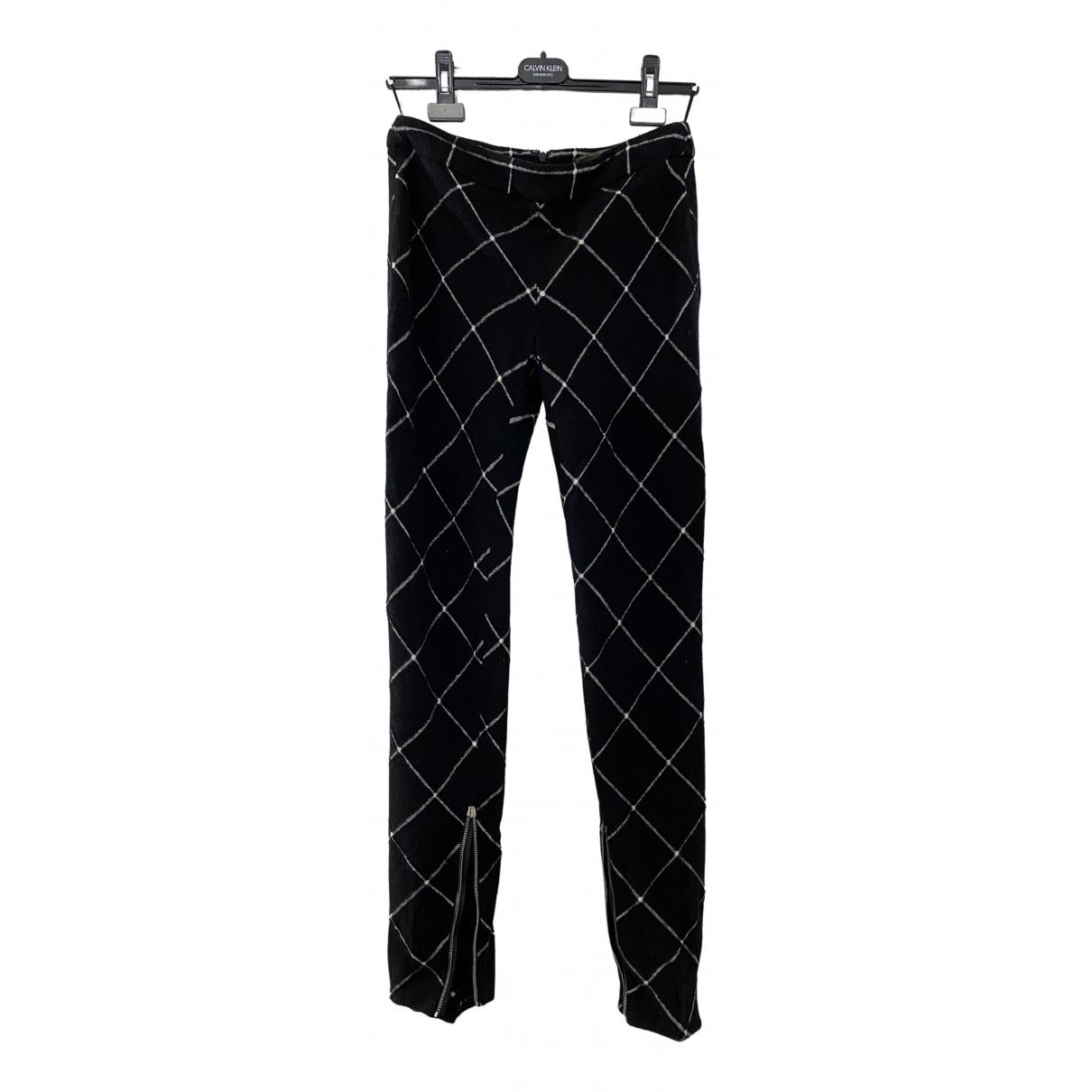 Alexander Mcqueen \N Black Wool Trousers for Women 38 IT