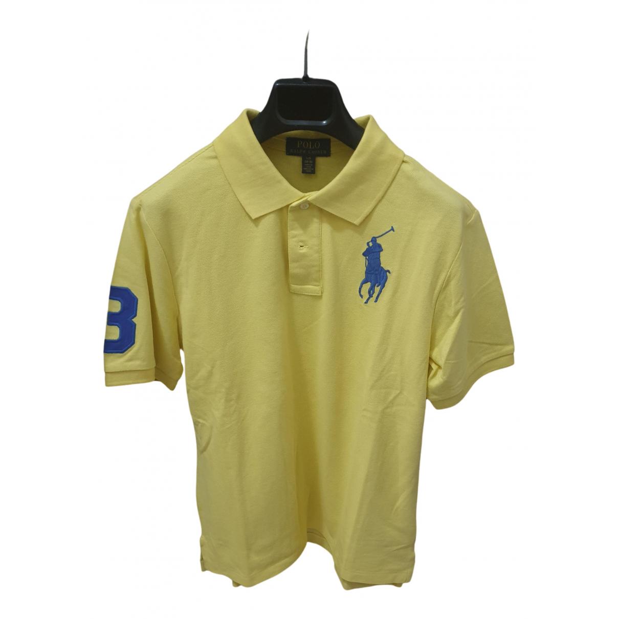 Polo Polo classique manches courtes en Algodon Amarillo Polo Ralph Lauren