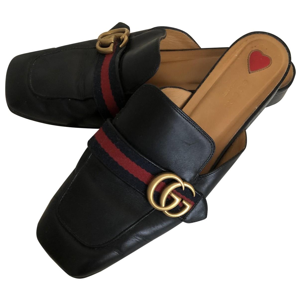 Mocasines Peyton de Cuero Gucci