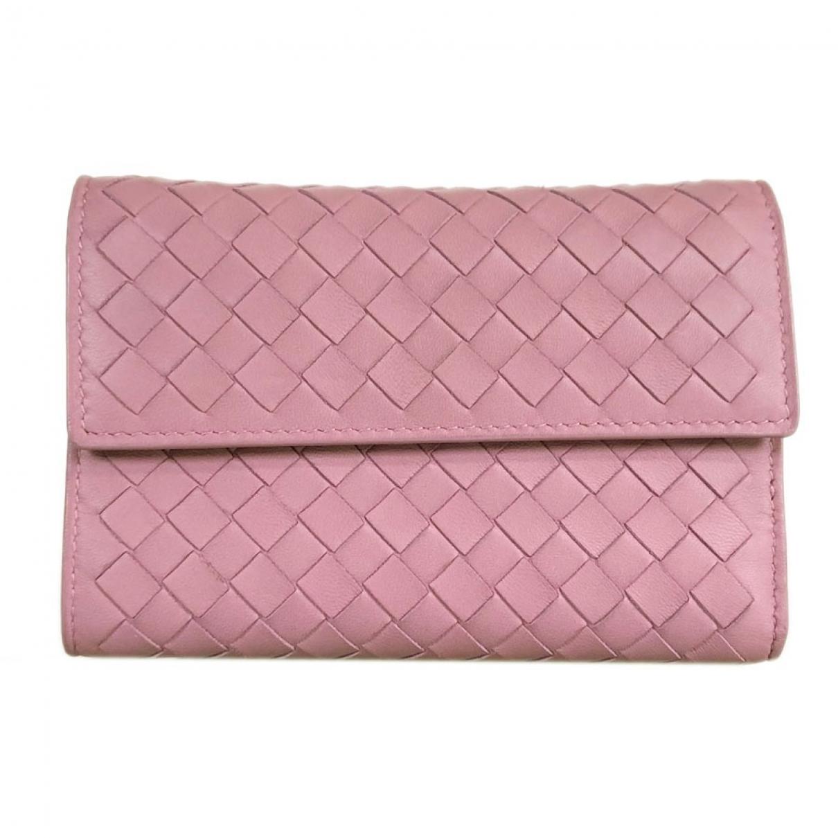 Bottega Veneta \N Pink Leather wallet for Women \N