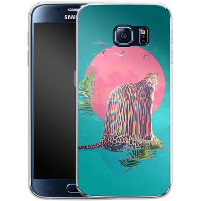 Samsung Galaxy S6 Silikon Handyhuelle - Jaguar von Ali Gulec
