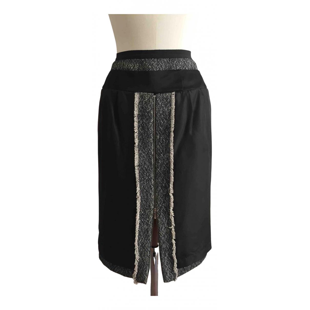 Givenchy \N Black Wool skirt for Women 38 FR