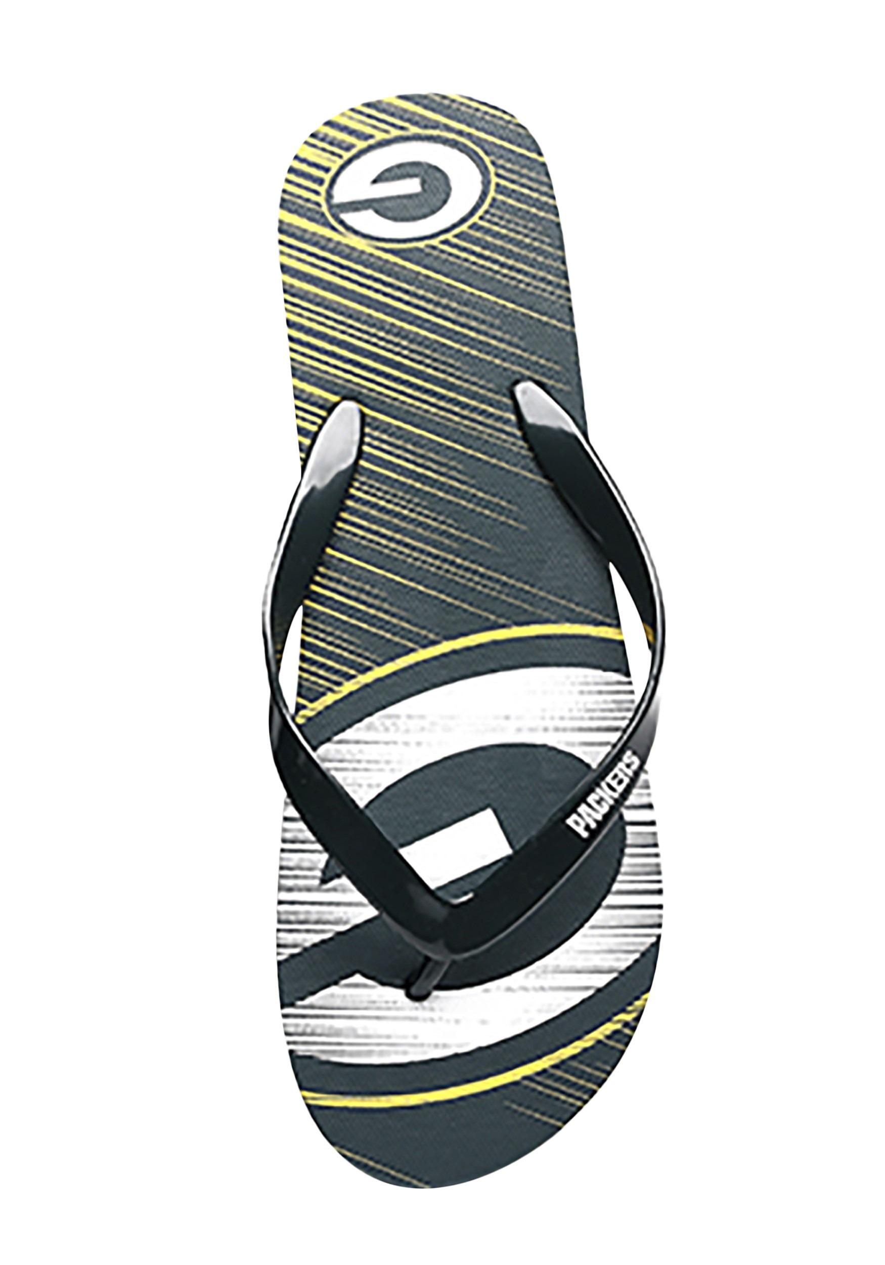 Green Bay Packers Diagonal Stripe Unisex Flip Flops
