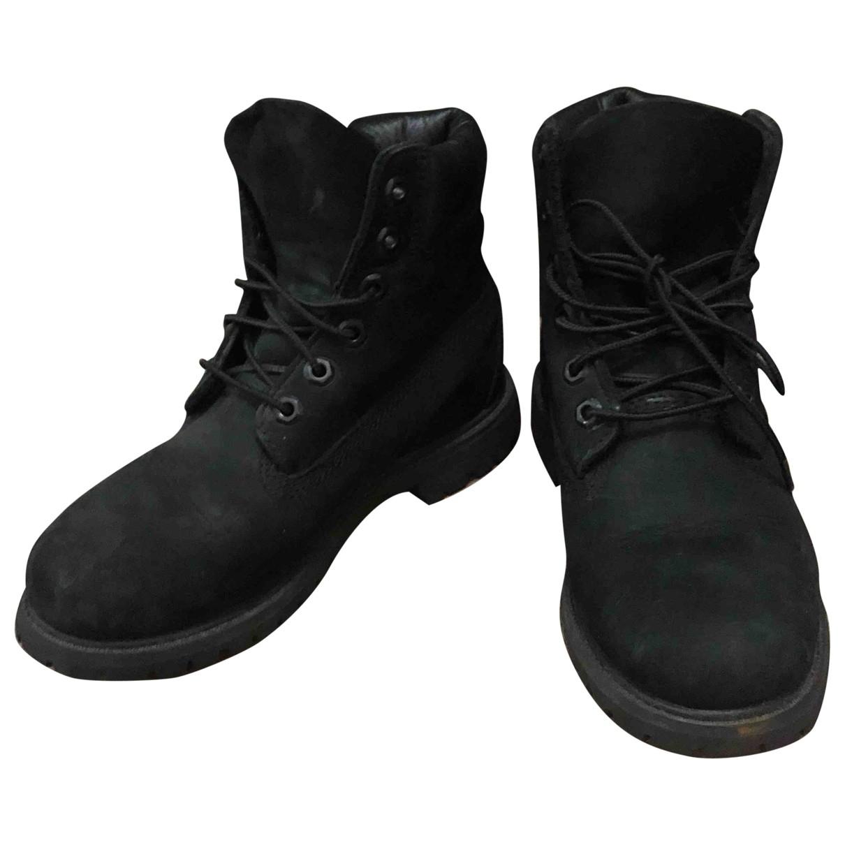 Timberland - Boots   pour femme en veau facon poulain - noir