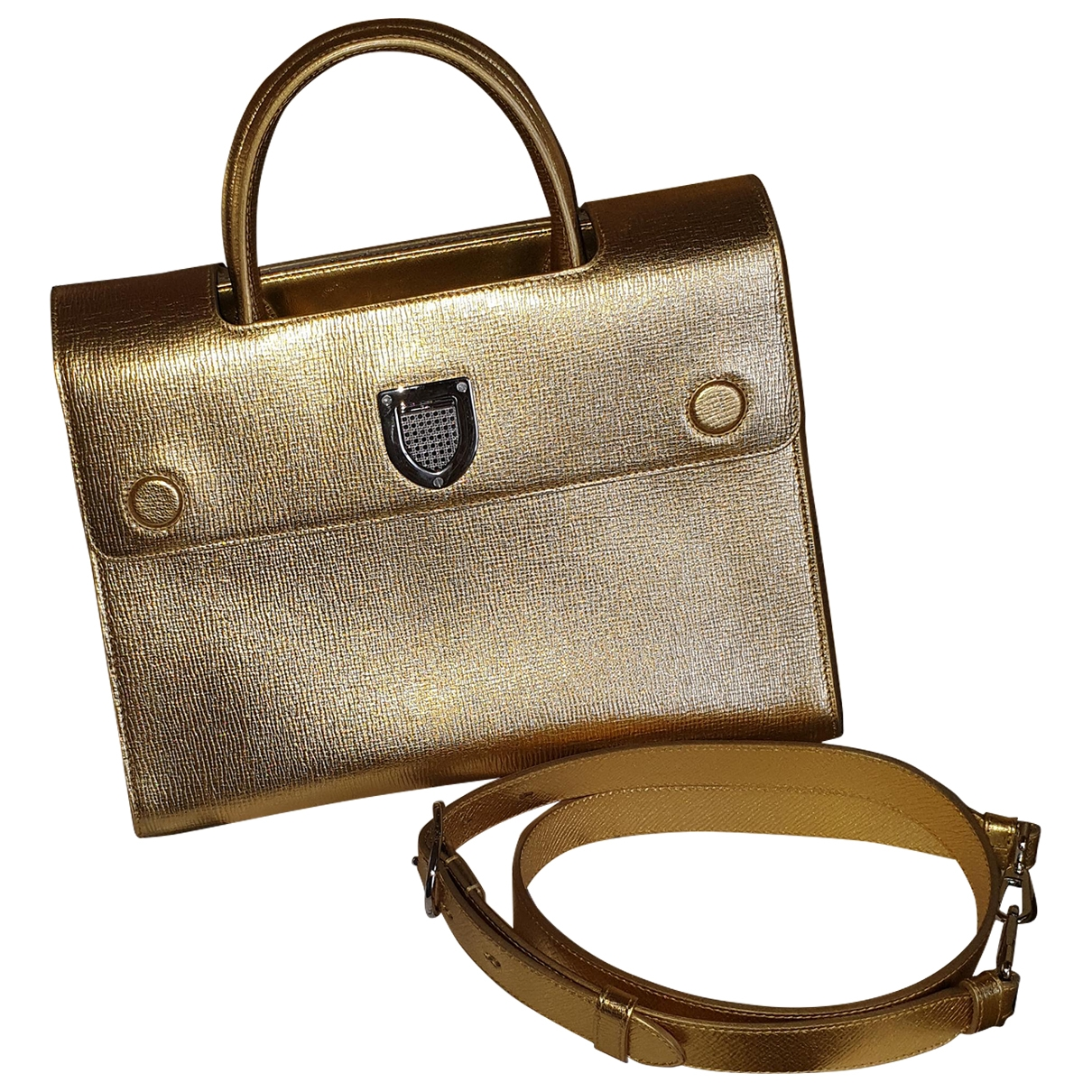 Dior Diorever Gold Patent leather handbag for Women \N
