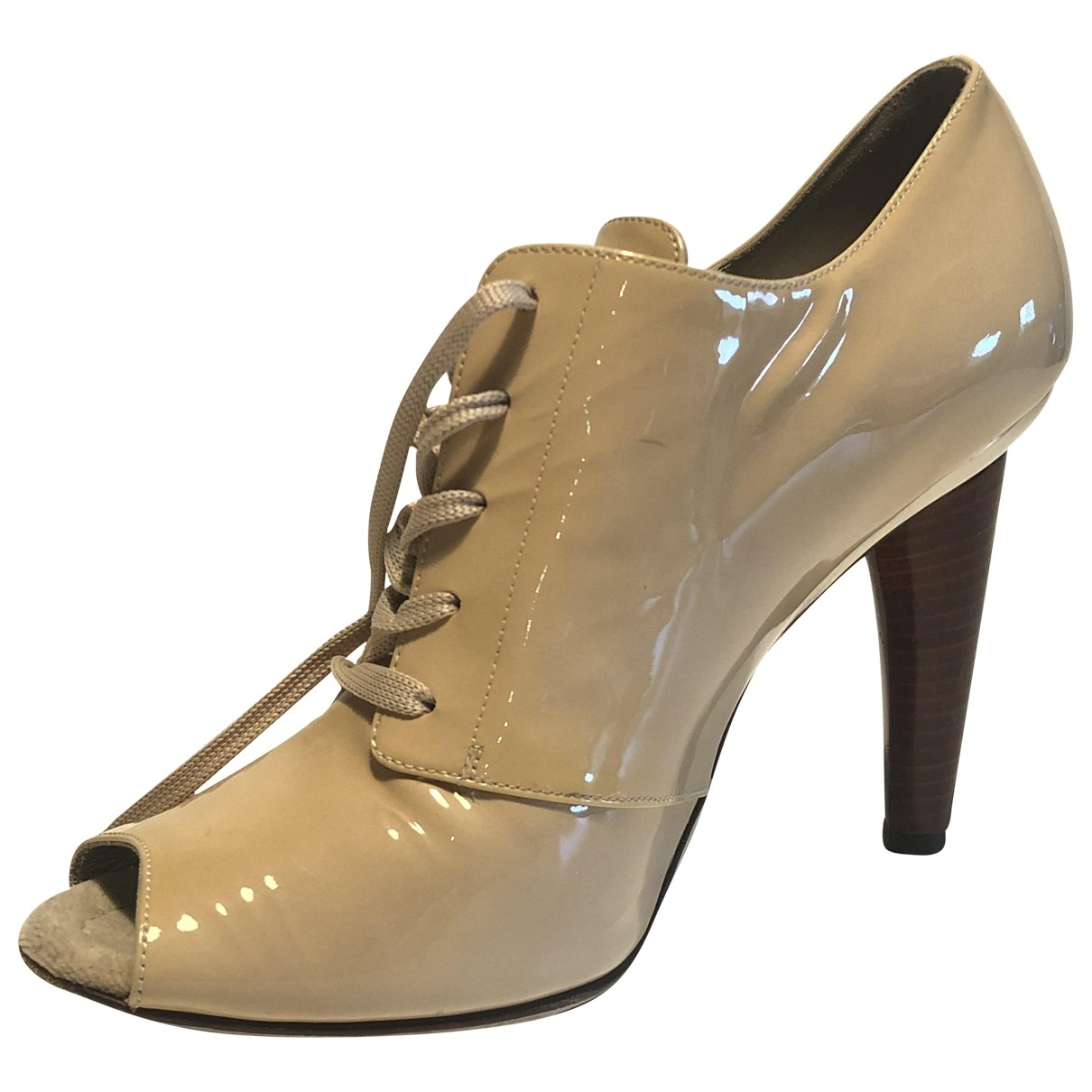 Dolce & Gabbana \N Beige Patent leather Ankle boots for Women 38.5 EU