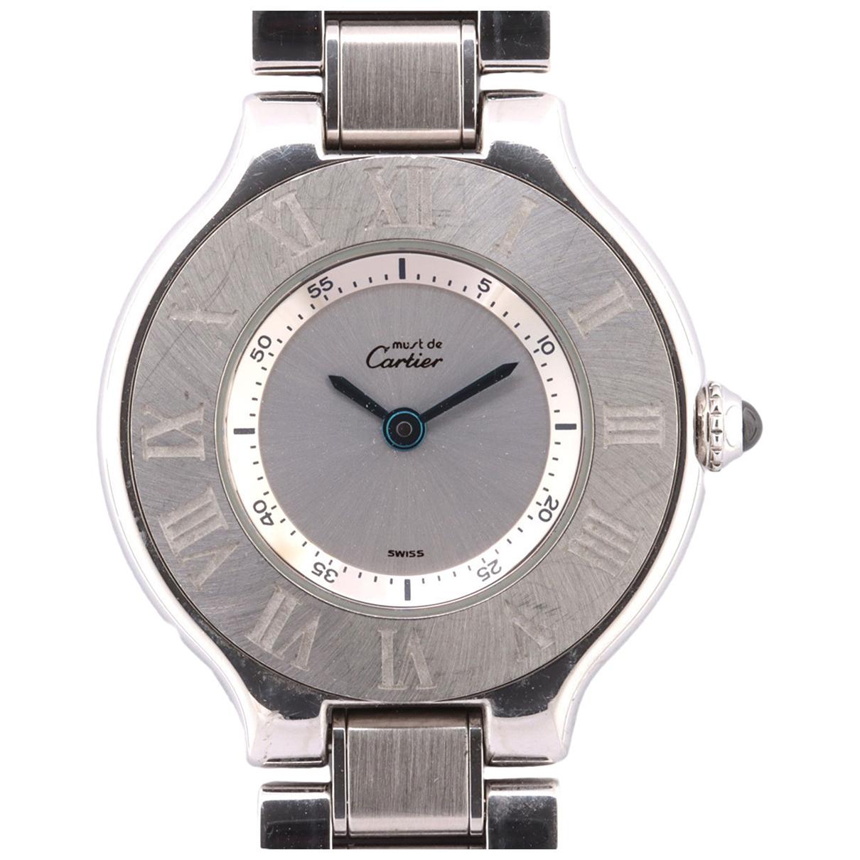 Cartier Must 21 Silver Steel watch for Women \N