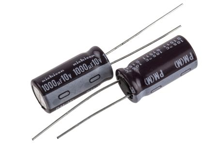 Nichicon 1000μF Electrolytic Capacitor 10V dc, Through Hole - UPM1A102MPD (5)