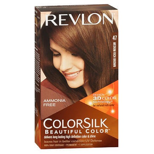 Revlon Colorsilk Natural Hair Color 4WB Medium Rich Brown each by Revlon