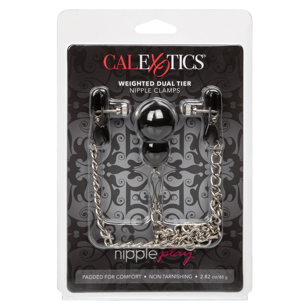 CalExotics Nipple Play Weighted Dual Tier Nipple Clamps