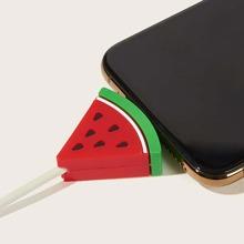 Protector de cable USB en forma de sandia