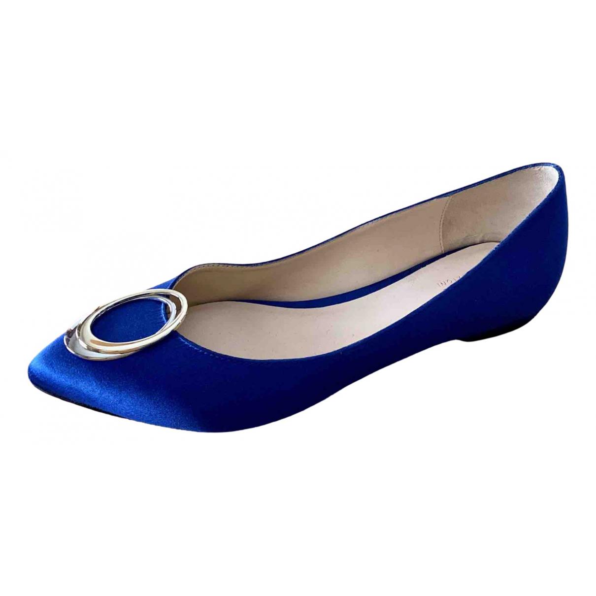 Armani Collezioni - Ballerines   pour femme en toile - bleu