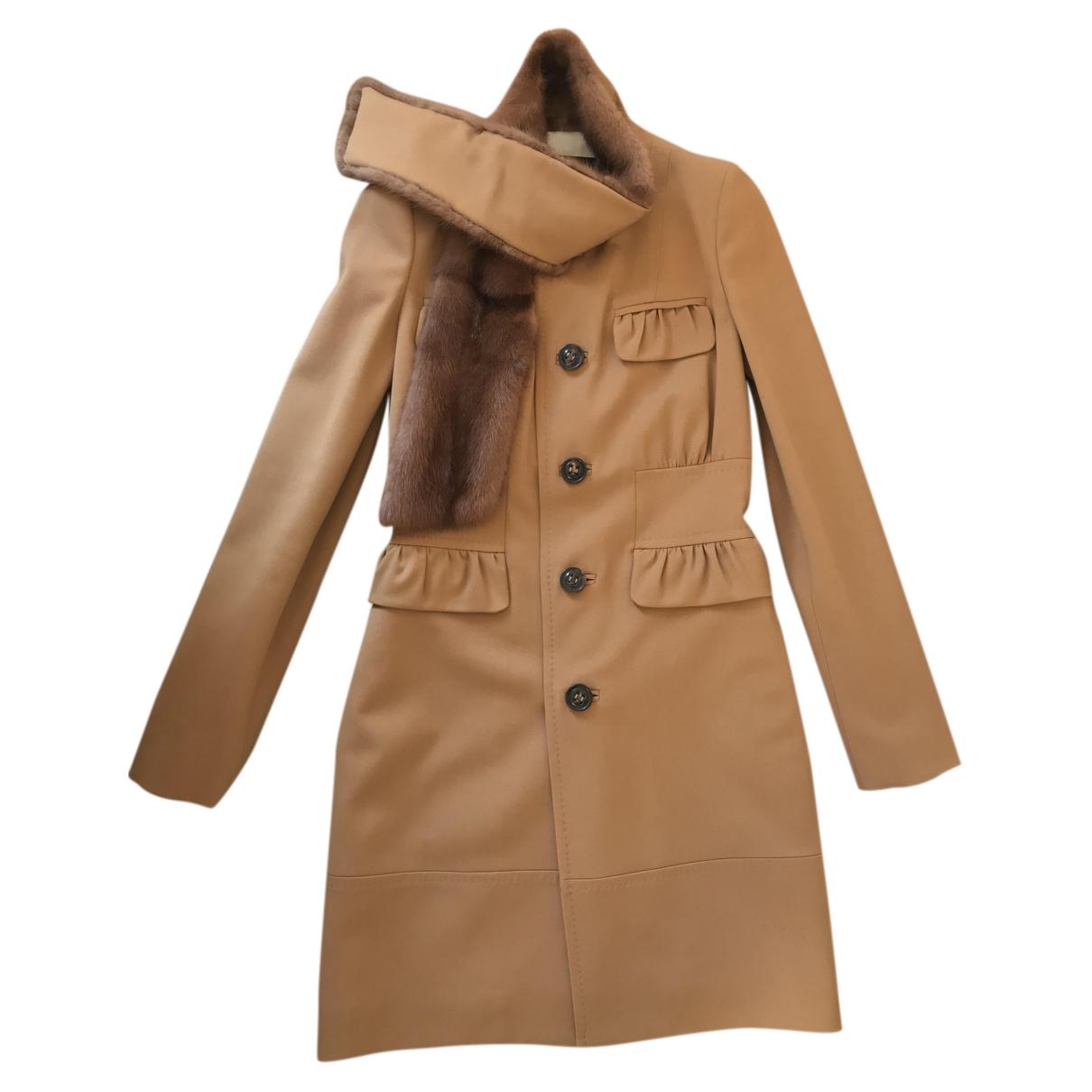 Dsquared2 \N Camel Mink coat for Women 42 IT