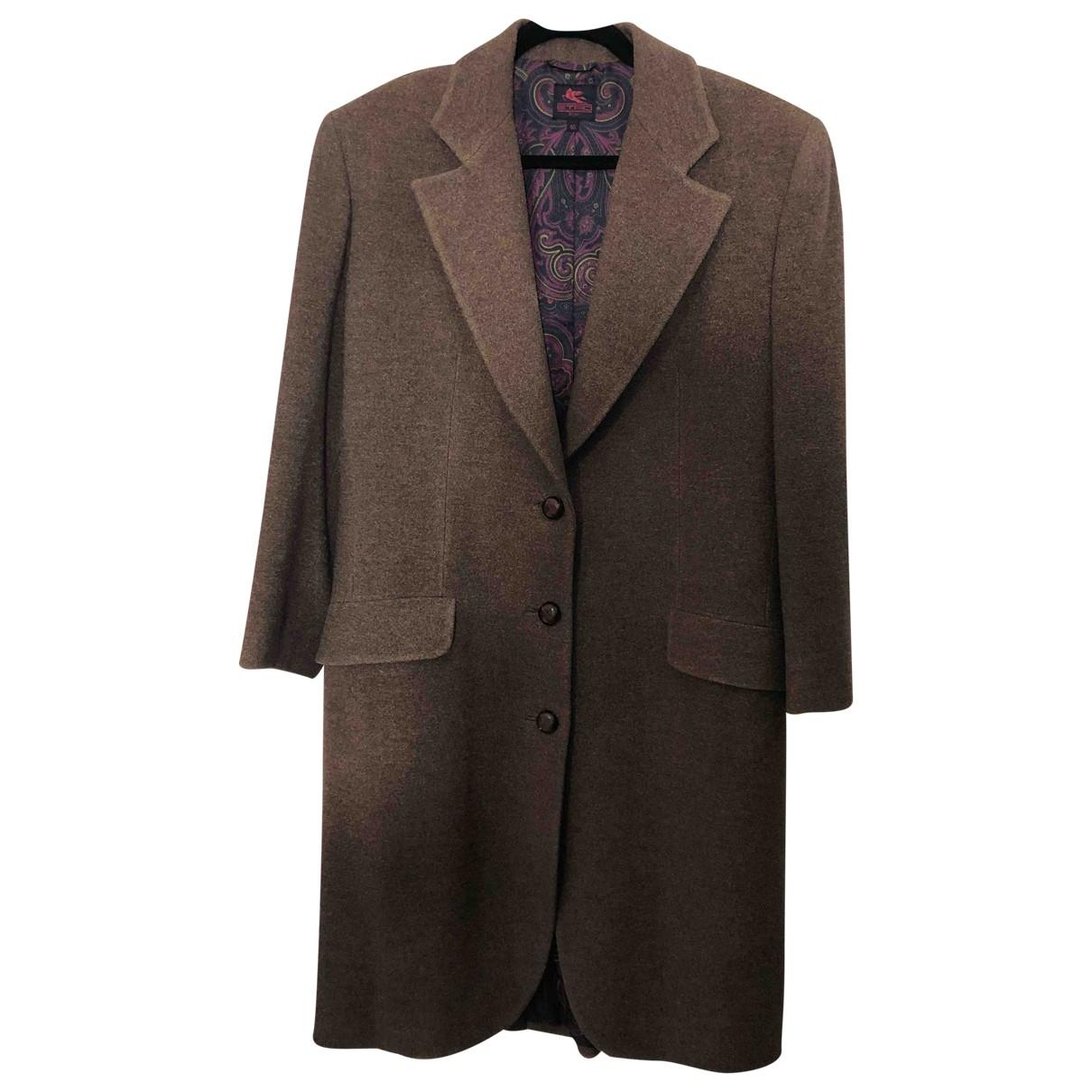 Etro \N Brown Wool coat for Women 40 IT