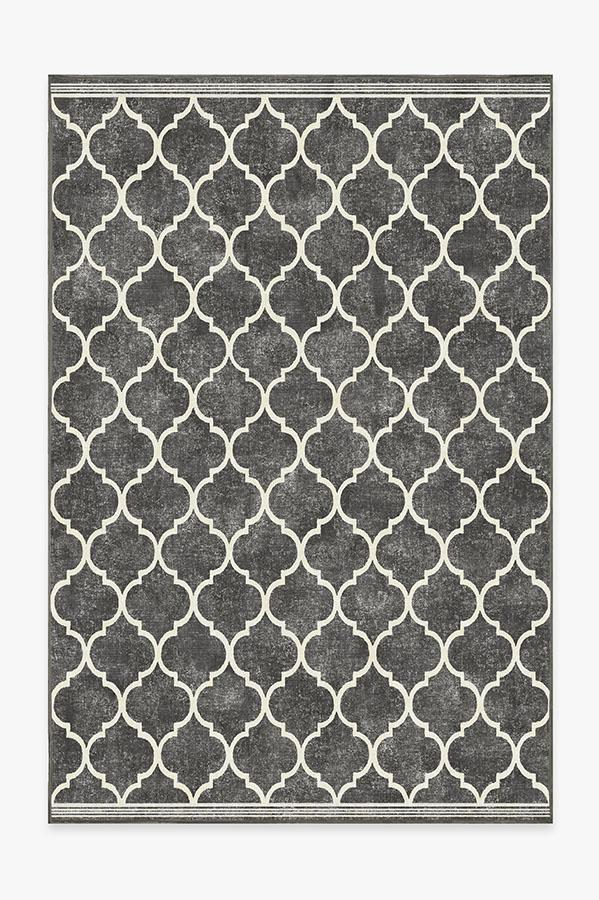 Washable Rug Cover & Pad | Terali Black Rug | Stain-Resistant | Ruggable | 6x9