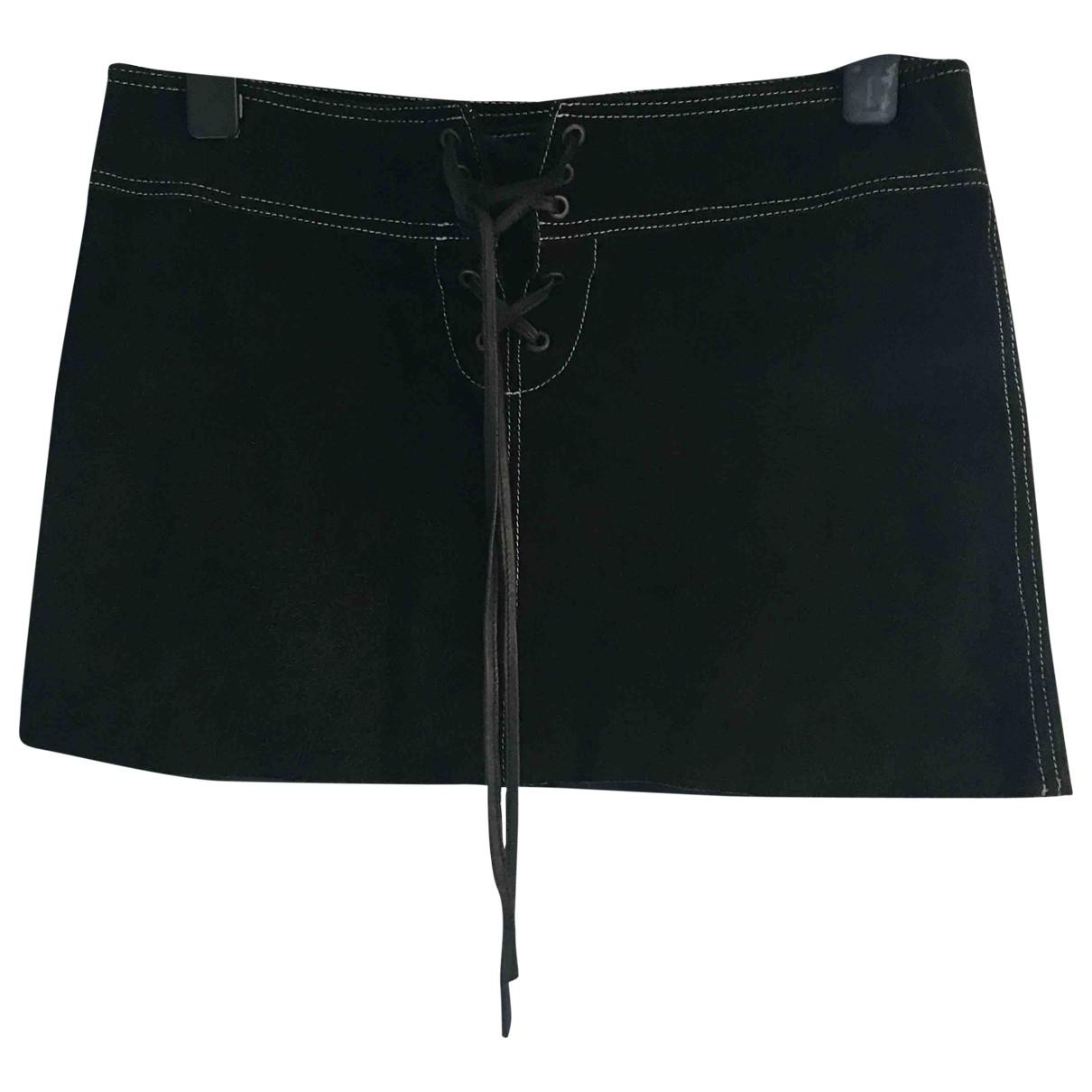 Armani Jeans \N Rocke in  Schwarz Veloursleder