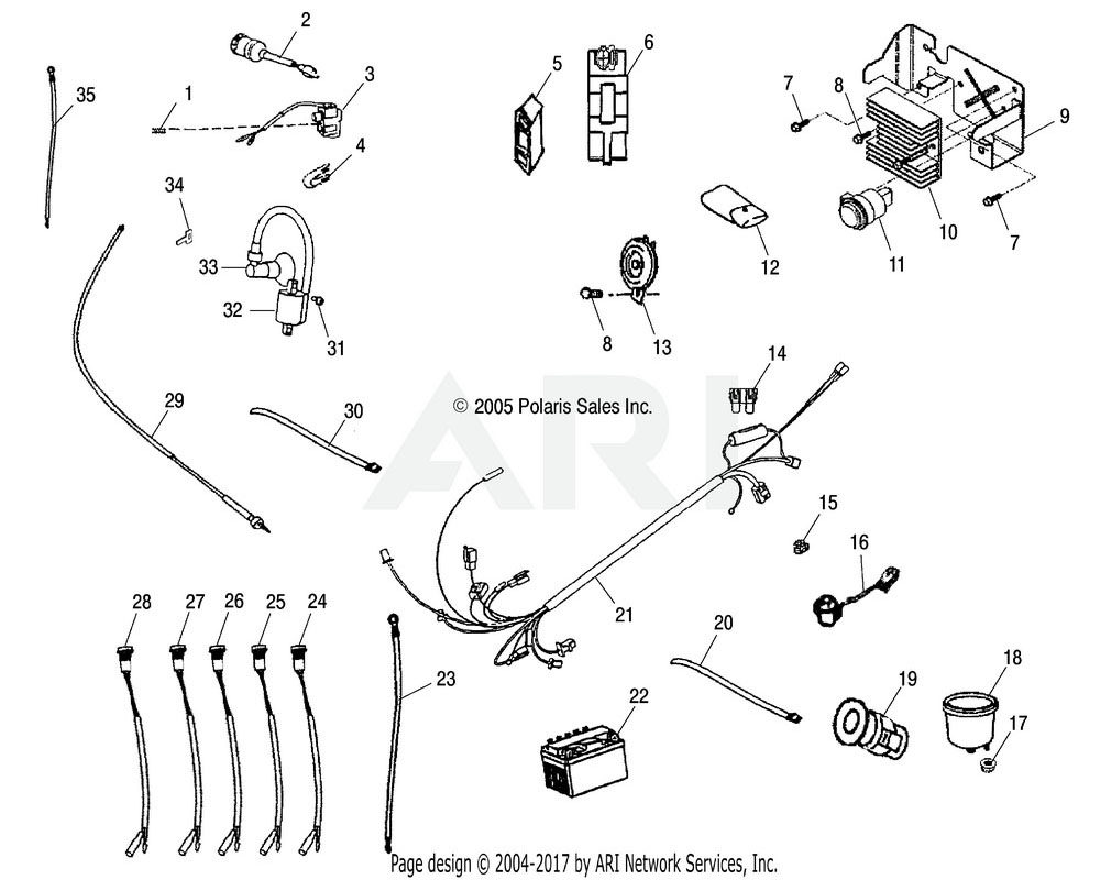 Polaris OEM 0452836 Asm., Harness, Main Wire