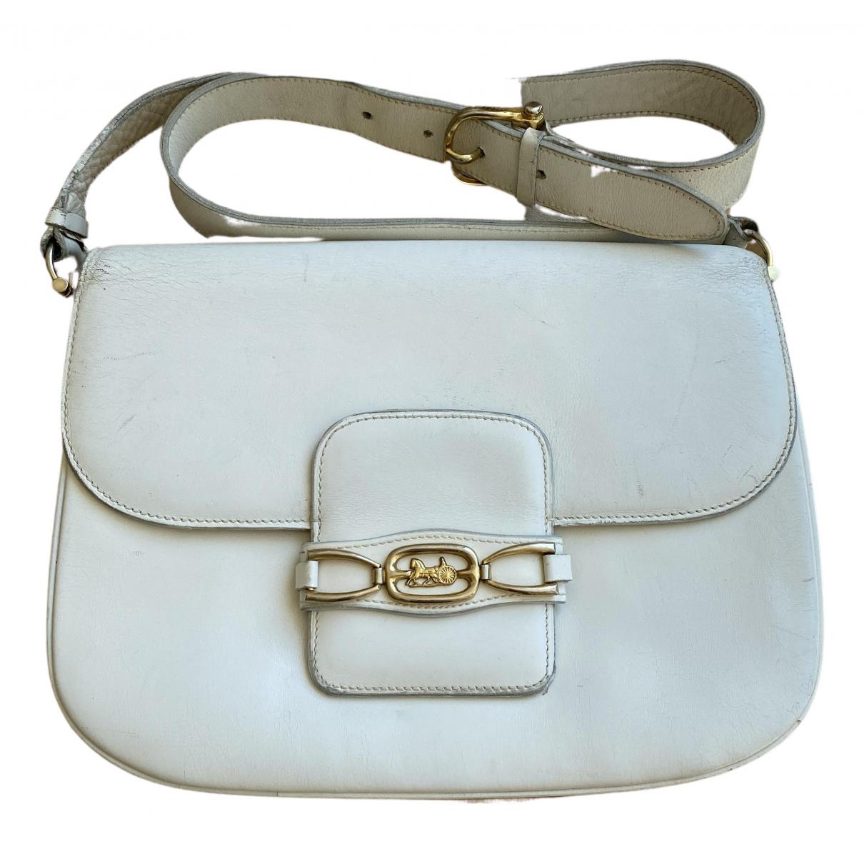 Celine N White Leather handbag for Women N