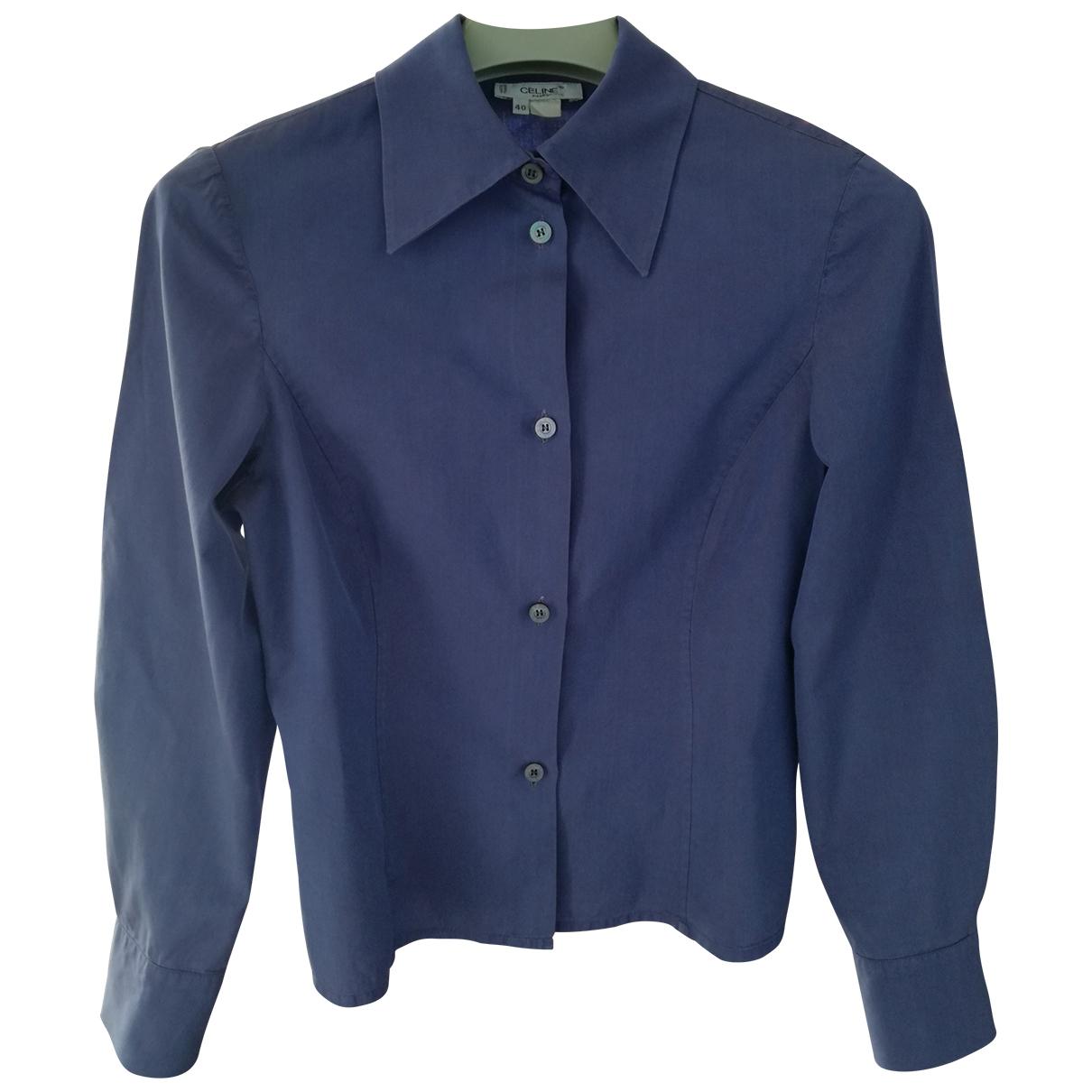 Celine \N Purple Cotton  top for Women 40 FR