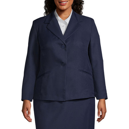 Alfred Dunner-Plus Suiting Suit Jacket, 22W , Blue