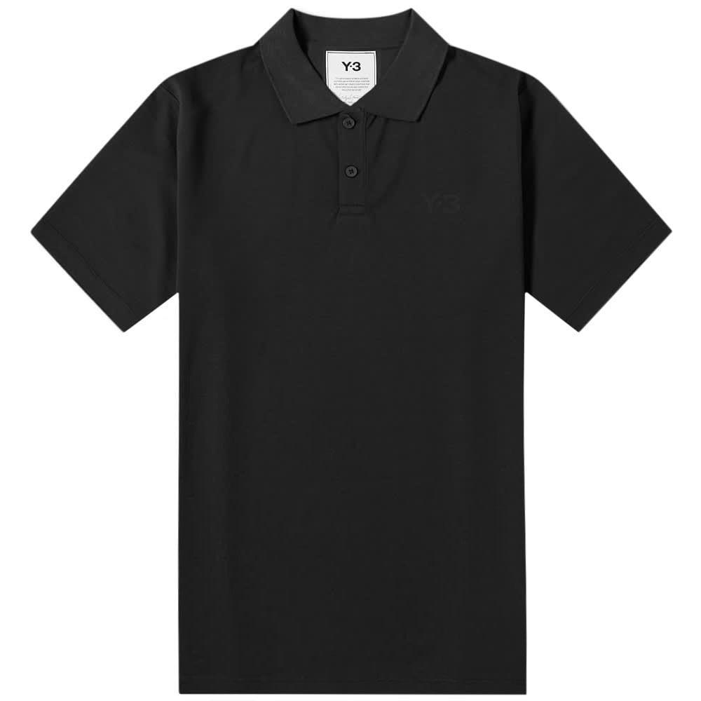 Y-3 Classic Logo Polo Shirt Black Colour: BLACK, Size: LARGE