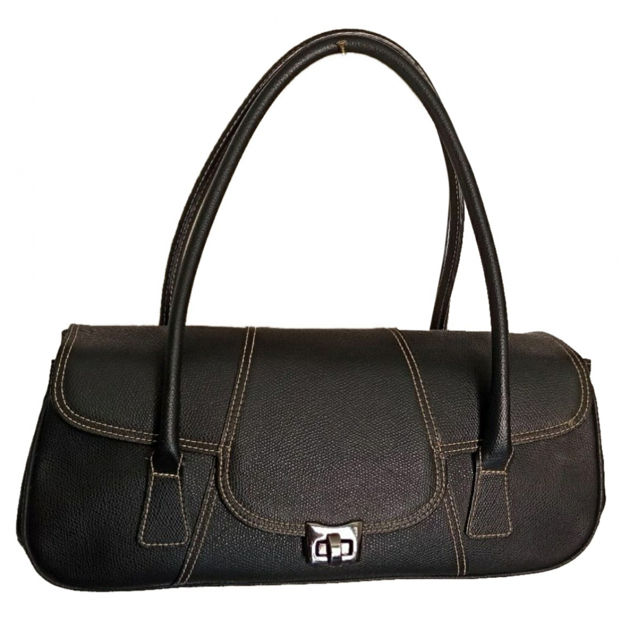 Marella \N Black Leather handbag for Women \N