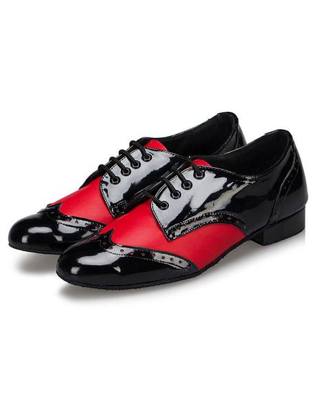 Milanoo Danza zapatos encaje hombres hasta zapatos de salon de baile de perrito