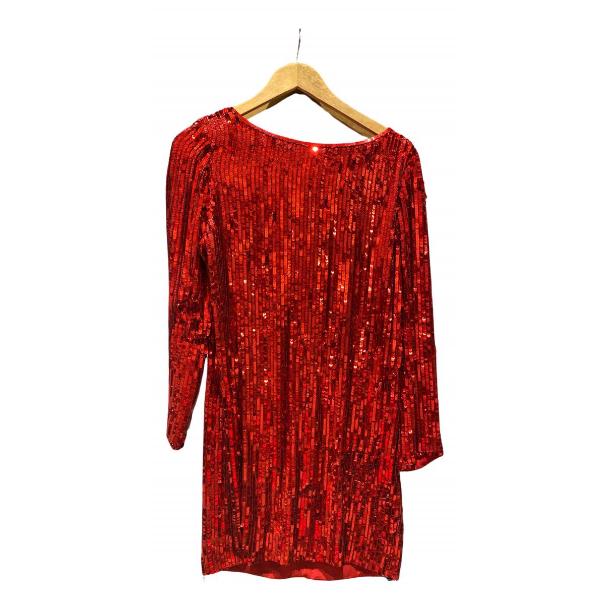 Saint Laurent \N Red Silk dress for Women 38 FR