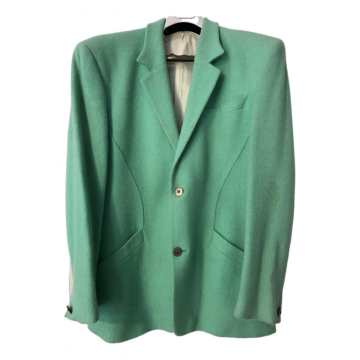 Thierry Mugler \N Turquoise Tweed jacket  for Men M International