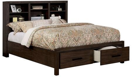 Strasburg Collection CM7384BR-EK-BED King With Bookcase Headboard And Low Footboard In