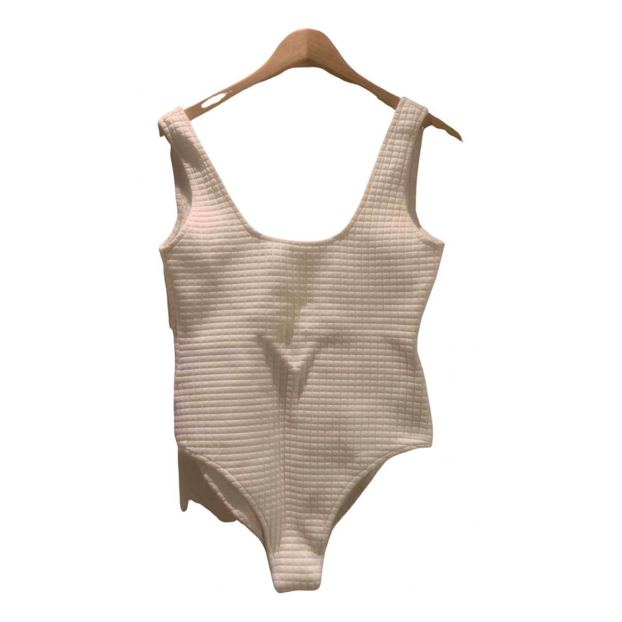 Bottega Veneta N White Cotton - elasthane Swimwear for Women 42 IT