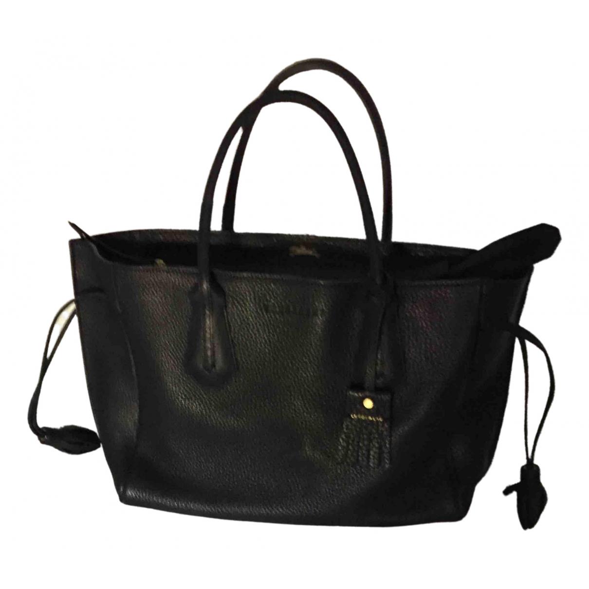 Longchamp \N Navy Leather handbag for Women \N