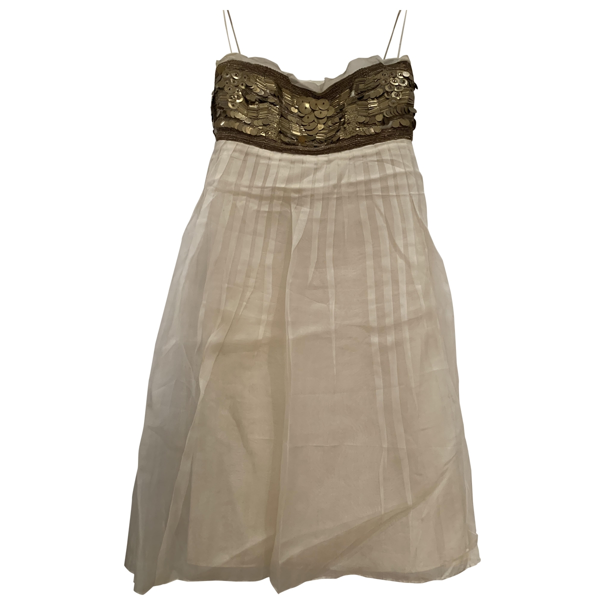 Hoss Intropia \N Kleid in  Ecru Seide