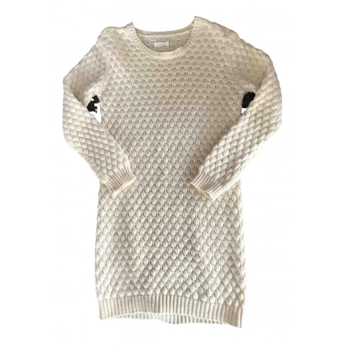 American Vintage - Robe   pour femme en laine - ecru