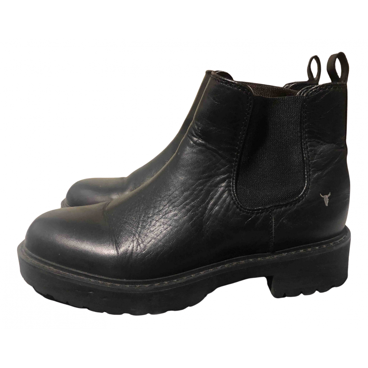 Windsor Smith N Black Leather Ankle boots for Women 39 EU