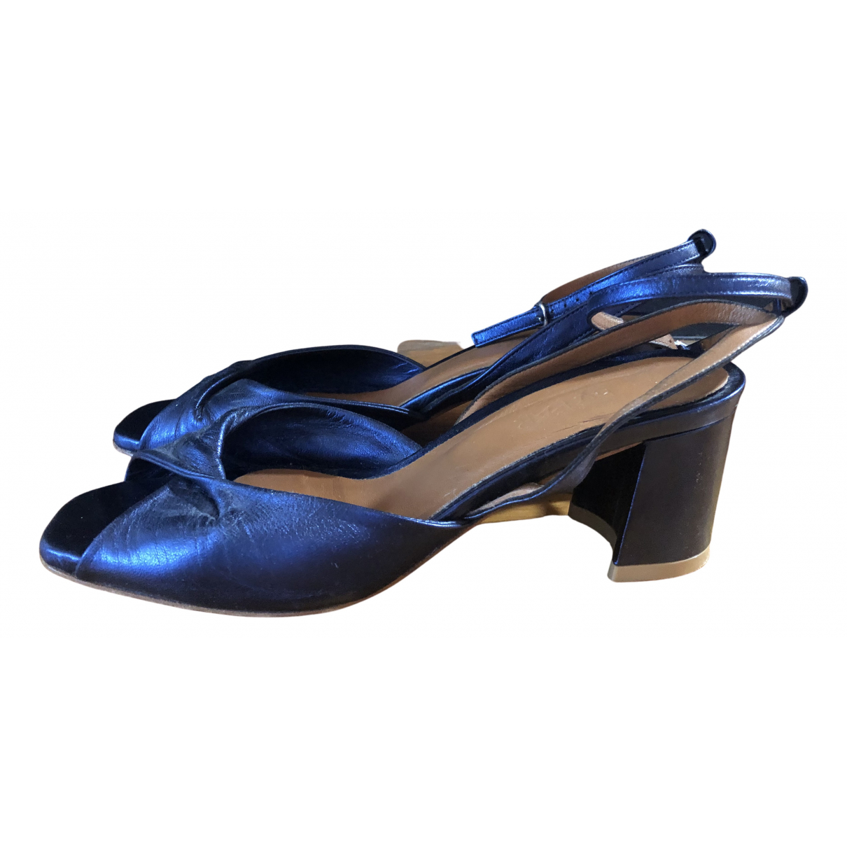 By Far \N Sandalen in  Blau Leder