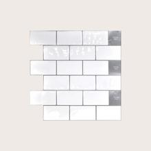 1pc Tile Pattern Waterproof 3D Epoxy Wallpaper Sticker