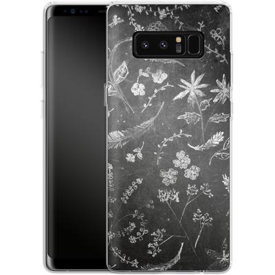 Samsung Galaxy Note 8 Silikon Handyhuelle - Flowers in chalk von ND Tank