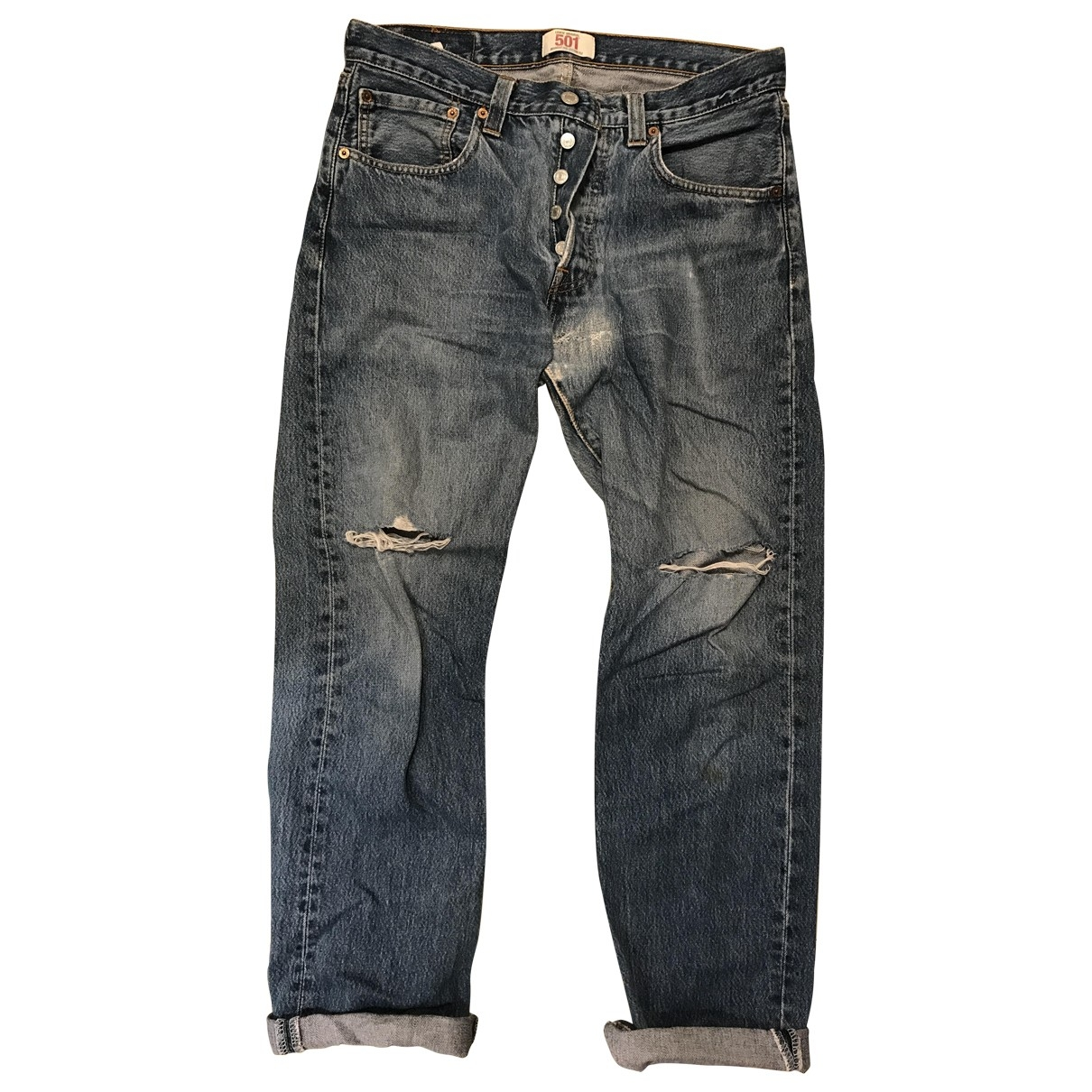 Levi's \N Turquoise Denim - Jeans Trousers for Women 42 FR